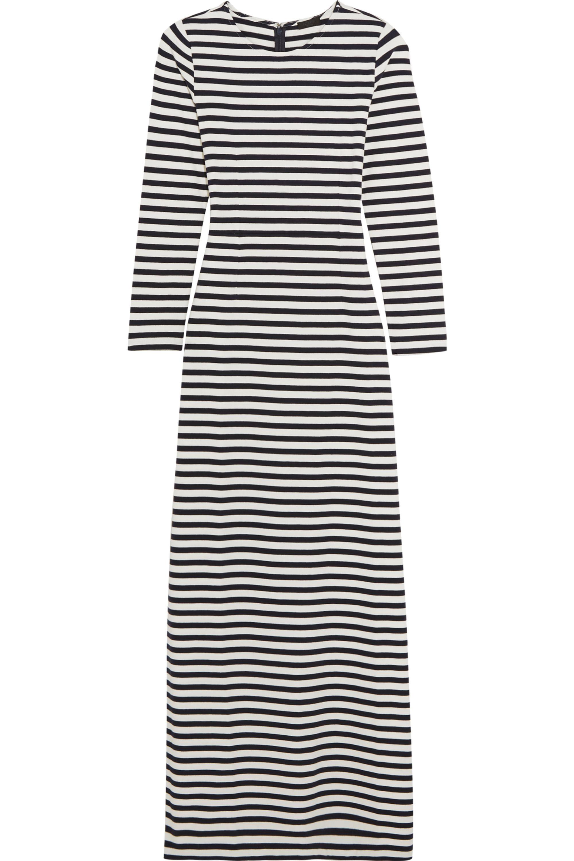 J.Crew Striped cotton-jersey maxi dress