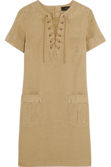 J.Crew - Collection Cotton And Linen-blend Mini Dress - Sand