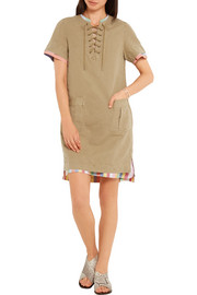 J.Crew Collection cotton and linen-blend mini dress