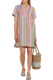 J.Crew Quinlan striped cotton, ramie and linen-blend mini dress