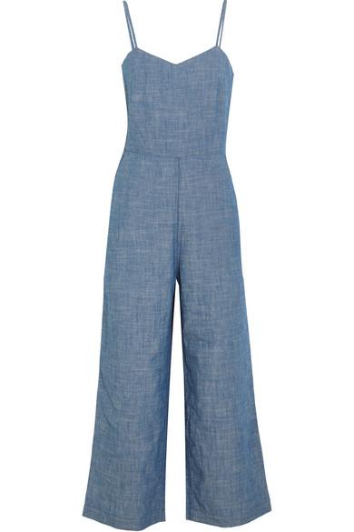 J.Crew - Roadrunner Cotton-chambray Jumpsuit - Blue