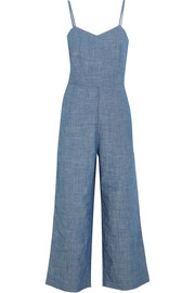 J.Crew Roadrunner cotton-chambray jumpsuit