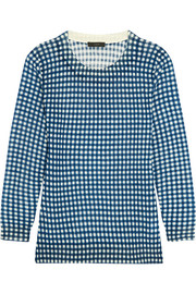J.Crew Tippi gingham merino wool sweater