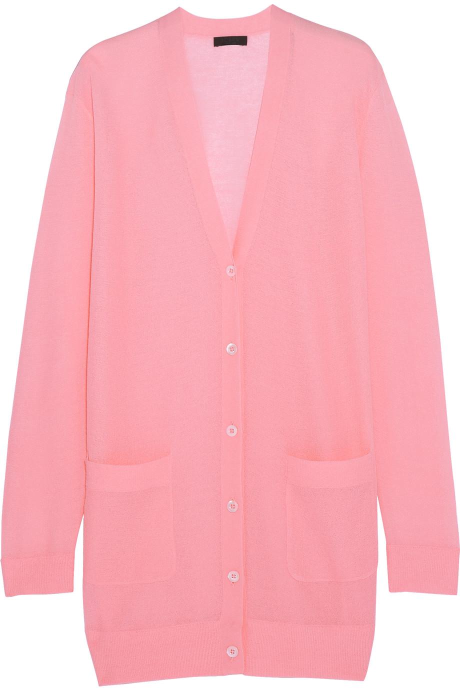 J.Crew Cotton-Blend Cardigan, Baby Pink, Women's, Size: S