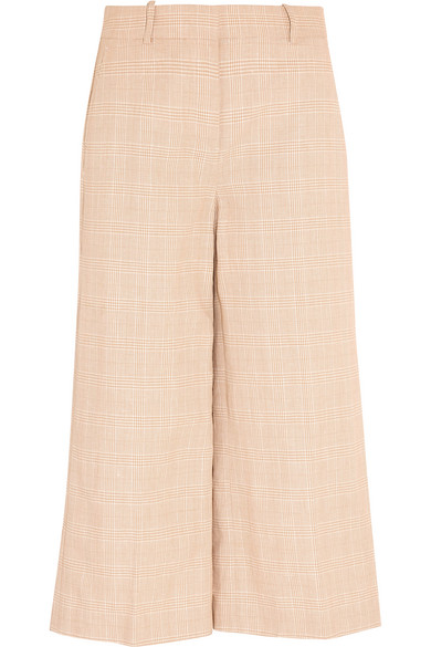 J.Crew - Collection Plaid Linen And Cotton-blend Culottes - Off-white