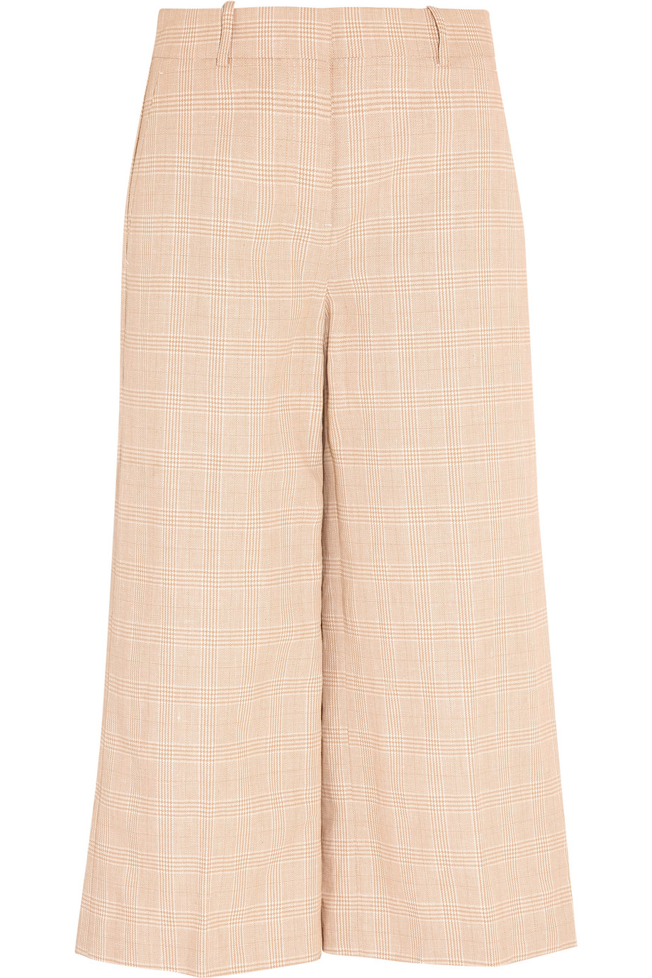 J.Crew Collection Plaid Linen and Cotton-Blend Culottes, Off-White, Women's, Size: 10