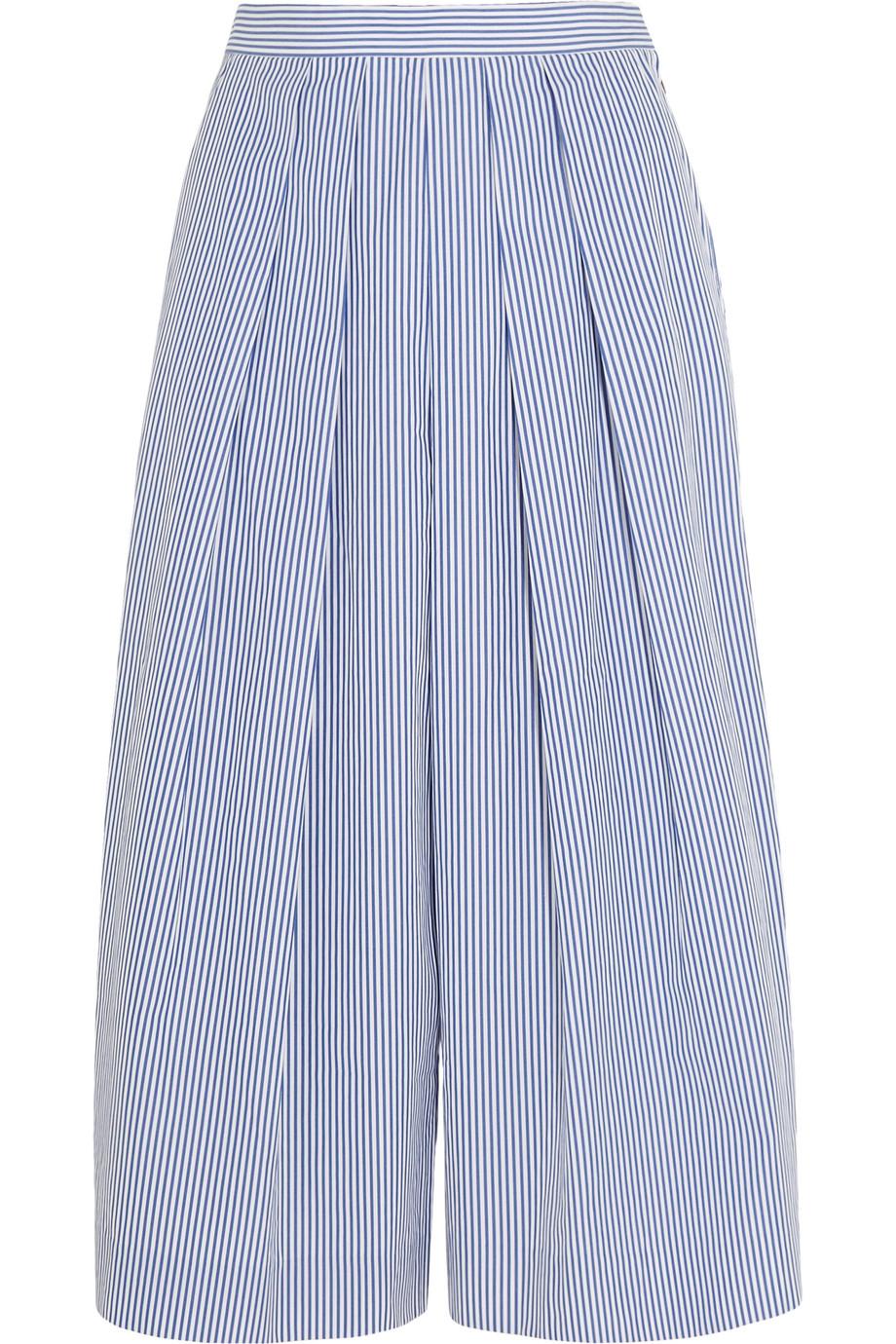 J.Crew Striped Cotton-Poplin Culottes, Size: 2