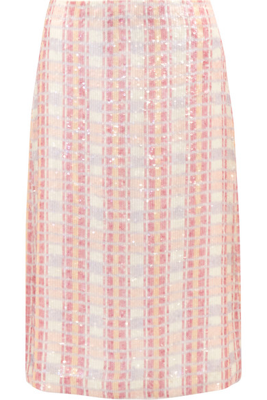J.Crew - Collection Sequined Silk-georgette Midi Skirt - Pink