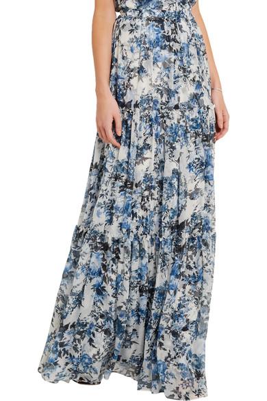 e2f1c85e68 Erdem | Sigrid floral-print silk-georgette maxi skirt | NET-A-PORTER.COM