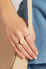 Jennifer Meyer Letter 18-karat gold diamond ring