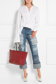 Valentino The Rockstud medium embellished reversible textured-leather tote