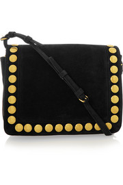 Igor Festival studded suede shoulder bag