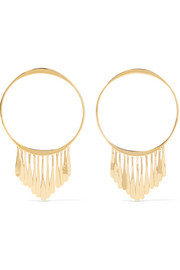 Vera gold-plated hoop earrings