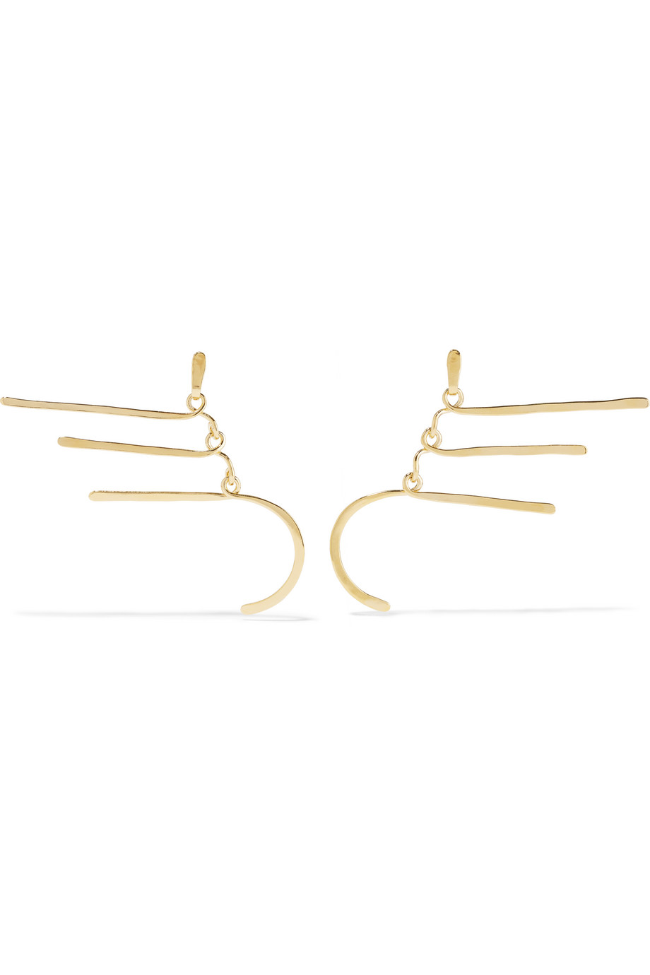 Vera Gold-Plated Earrings, Aurélie Bidermann, Women's