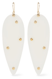 Liz gold-plated resin earrings