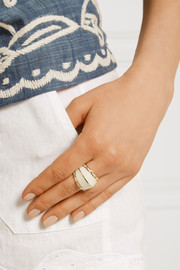 Aurélie Bidermann Liz gold-plated resin ring