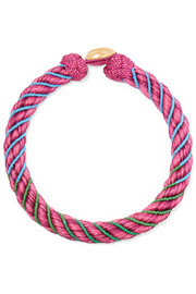 Maya beaded braided cotton and silk necklace