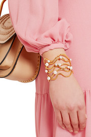Aurélie Bidermann Gold-plated pearl cuff