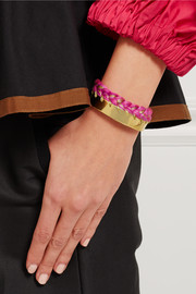 Aurélie Bidermann Braided gold-plated cotton cuff