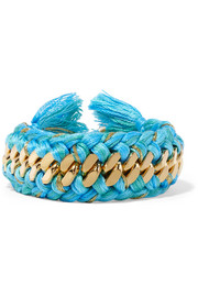 Braided gold-plated cotton bracelet