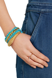 Aurélie Bidermann Braided gold-plated cotton bracelet