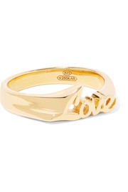 Love gold-plated ring