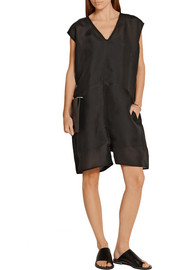 Rick Owens Oversized silk-organza playsuit