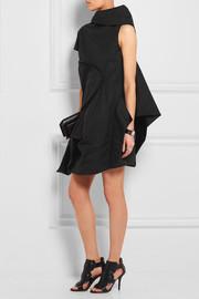 Rick Owens Asymmetric draped cotton mini dress
