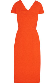 Dunmore crepe-paneled matelassé dress