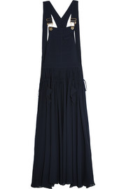 Ruched crepe maxi dress