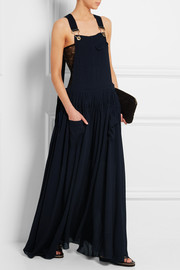 Chloé Ruched crepe maxi dress