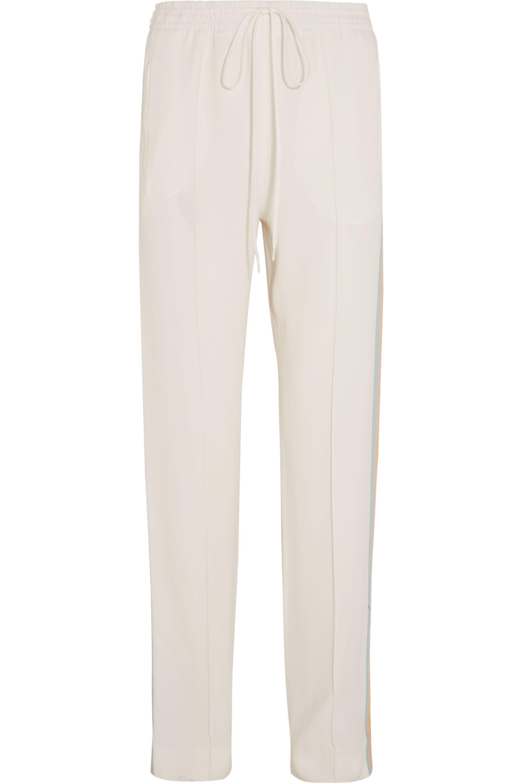Chloé Striped crepe track pants