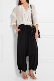 Chloé Silk-crepe wide-leg pants