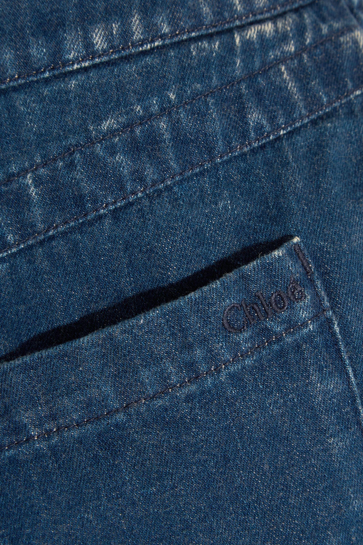 Chloé Ausgefranste Jeansshorts