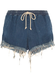 Chloé Frayed denim shorts