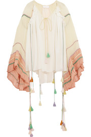 Chloé Tasseled silk-crepon blouse