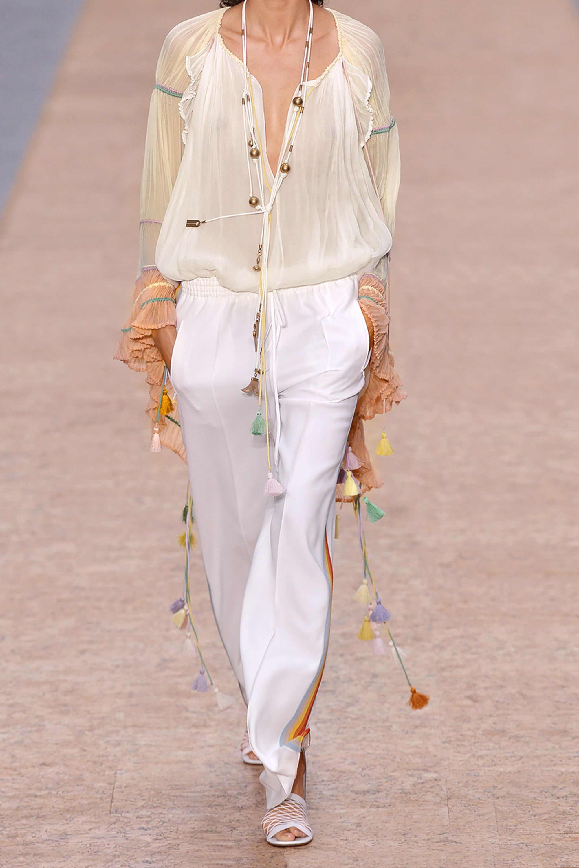 Chloé Tasseled silk-crepon blouse
