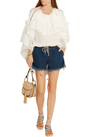 Chloé Ruffled silk-crepon blouse