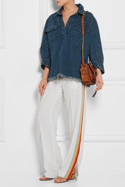 Chloé Oversized frayed denim shirt