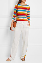 Chloé Striped cotton-jersey top