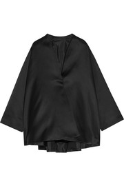 The Row Tere silk-satin jacket