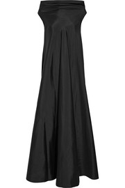 Gen draped silk gown