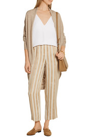 Caro draped cashmere and silk-blend cardigan