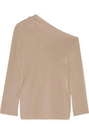 Nandac one-shoulder Pima cotton and silk-blend sweater