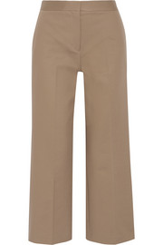 Resme cropped silk-satin wide-leg pants