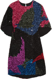 Sonia Rykiel Sequined georgette mini dress