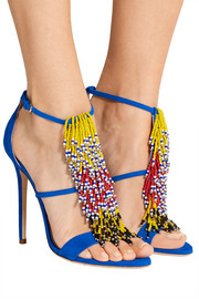 Brian Atwood Iliana fringed suede sandals