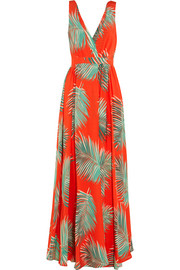 Paul & Joe Printed silk-crepe maxi dress