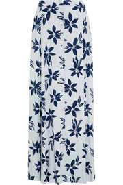 Paul & Joe Printed crepe maxi skirt