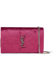 Saint Laurent Monogramme velvet shoulder bag